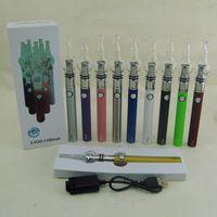 cam Globle çift bobinler balmumu kuru ot buharlaştırıcı Atomizer ile 2020 Ecigarettes eGo EVOD 1100mAh batarya VAPE kalem Starter Kit mod kitleri kutu