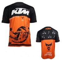 Vente chaude Hommes Casual KTM Moto T-shirt Jersey Manche courte Airline Jersey Motocross DH Downhill MX VTT Breathable Off-Road