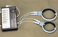 Gros Électrique Choc Silicone 40mm 50mm Pénis Anneau Retarder L'éjaculation Cockring Physiothérapie Érectile Dysfonction pour Hommes A21