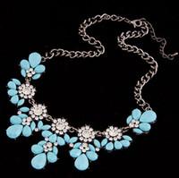Nieuwe Boho Hot Koop Vintage Bloem Crystal Bubble Collar Choker Bib Statement Vrouwen Ketting Sieraden Collier Bijoux
