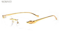 Óculos Fashion For Men ouro Metal Frame Mens chifre de búfalo Glasses 2020 atitude Sports óculos Sunglasses Big óculos sem aro