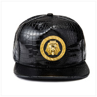 Mısır Firavun Beyzbol Şapkası PU Deri Hip Hop Punk Stil Düz-Dikilen Snapback Şapka Erkekler Kadınlar Serin Erkek Moda Kapaklar