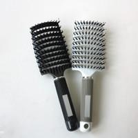 Wholesale-2016 neue antistatische Hitze gebogene Entlüftungs-Friseursalon-Haar-Styling-Werkzeug-Reihen-Zinken-Kamm-Bürsten-Haarbürste Freies Verschiffen