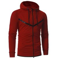 Autumn winter casual sport hoodies for men fashion patchwork...