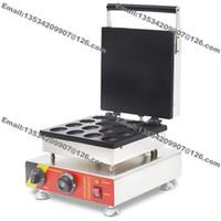 Livraison Gratuite 16 pcs Utilisation Commerciale Non-bâton 110v 220v Noix de Fleur Électrique En Forme de Gaufre Baker Machine Maker Fer Grill