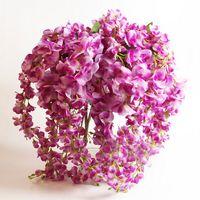 도매 2016 새로운 뜨거운 판매 등나무 실크 꽃 로맨틱 인공 꽃 홈 파티 웨딩 장식 꽃