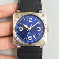 Best Edition 42mm Aviation BR 03- 93 GMT BR03 BR03- 93- GMT- ST ...