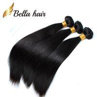 (Nur in den USA) Günstigste Flechtendonorhaar 100 indische menschliche Haarverlängerungen 12-14-16-18-20-22-24inch für schwarze Frauen Bella Haar 3/4 / 5 stücke pro Menge