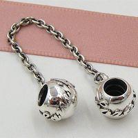 925 стерлингового серебра семейные связи цепи безопасности Шарм шарик с Cz подходит Европейский Пандора ювелирные браслеты ожерелья