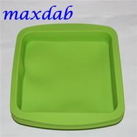 """piatto caldo della cera del silicone di DHL piatto profondo quadrato di forma 8 """"X8"""" amichevole contenitore antiaderente del silicone concentrato vassoio del silicone del commestibile"""