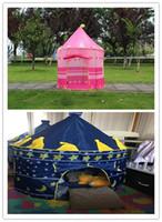 2 colores tienda de plegables portátil Príncipe carpa plegable niños niños castillo chico Cubby jugar casa regalos de los niños tiendas de juguetes al aire libre
