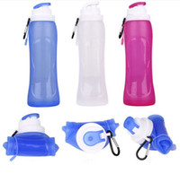 500ml Collapsible Folding Drink Water Bottle Kettle Cup Sili...