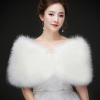Real photos White Faux Fur Wedding Jacket Warm Bridal Bolero...