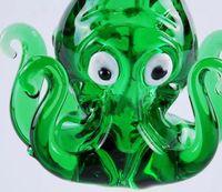 Testa di bolla di polpo verde scuro, bong di vetro all'ingrosso, tubo di acqua di vetro, narghilè, accessori per il fumo,