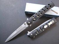 Promozione! Cold Steel 26S Coltellino tascabile lama bianca lama aperta rapida 440 lama in acciaio + manico in lamiera di plastica ABS Coltelli pieghevoli