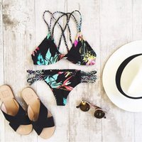 New Fashion Europe And America Sexy Swimwear Retro printing ...