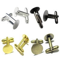 20pcs lot 15mm French Style Cufflink Settings Blank Round Pa...
