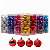 Baril Placage Multicolore Boule De Noël Ornements Incassable Décorations De Noël Vacances De Fête De Mariage Décoration Ornements D'arbre JN-B10