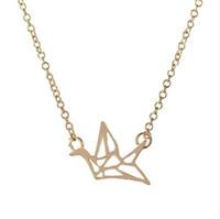 2016 nuova collana moda e bella uccelli di origami collana di gru femminile collana lunga catena bel regalo per il meglio