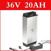 Batteria al litio 36V 20AH Alloggiamento in alluminio portapacchi posteriore 42V batteria agli ioni di litio + caricabatterie + BMS, pacchetto bici elettrica Dazio doganale libero