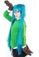 الشحن مجانا! Vocaloid ماتريوشكا هاتسون ميكو تأثيري حلي الرياضة معطف الأخضر