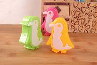 Cancelleria giapponese Carino Fori Penguin Plastic Metal colore casuale doppie Temperamatite ufficio di banco Kawaii cancelleria
