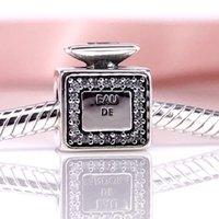 Alta Qualidade Assinatura Perfume, Claro CZ Charme Fit DIY Pulseira Pandora Authentic 925 Sterling Silver 791889CZ