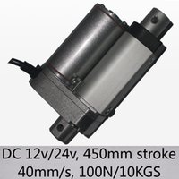 """18 """" /450мм штрихуют электрические линейные приводы 40мм / с высокоскоростной ДК 12В и 24В нагрузки 100Н 10кгс"""