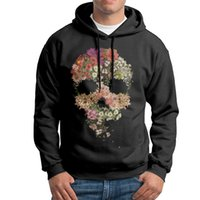 2017 New men's long sleeve and O-neck hoodies with skull floral decay printed for free shipping hoodies