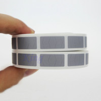 Adesivo etichetta adesiva gratta e Vinci Adesivo etichetta color argento 10 x 20mm Codice colore Sticker 1000PCS