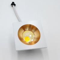 화이트 / 따뜻한 MINI 광장 디 밍이 가능한 5W 고출력 LED 최근 천장 다운 라이트 램프 LED 다운 라이트 거실 캐비닛 침실
