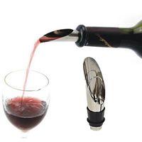 Elegante acero inoxidable vino vino vino embudo botella vertiendo topes de vino tapones de barra herramientas rolhas dos vinhos