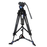 Pro Video Fluid Drag Trípode Benro KH25N + 3 ruedas Soporte Skater Dolly para Canon Sony Panasonic Cámara Videocámara DHL gratis