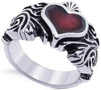 wholesale heart ruby band ring S925 Engagement Anniversary Christmas gift titanium lady gold IT CA Dimond Tungste women Paris EUR Pt