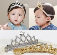 Baby Girl Headbands Kids Imperial crown Hair Accessories Tia...