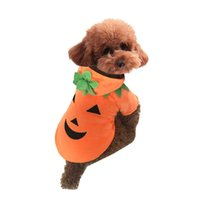 Halloween Zucca Animali domestici Vestiti del cane Cucciolo T-Shirt Apparel Dress Hoodie Costume Pet Supplies Taglia XS-XL 160918