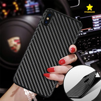 Para o iphone 8 plus iphone x voltar case capa de fibra de carbono tpu phone case phone protectore