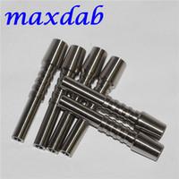 Titanios de 10 mm Herramientas de punta conjunta GR2 Tianium Nails para el kit de colector de néctar Longitud 40mm TI TIPS