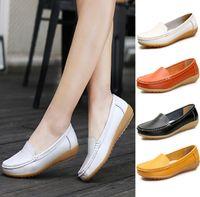 Sapatos casuais Nova primavera verão das mulheres singles sapatos selvagens sapatos baixos casuais anti-skid Peas sapato médicos enfermeiros sapatos de sola macia mãe SHOE