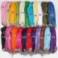 "Hot Sale Fashion Cute 22 Colors Organza Voile Ribbon Necklaces Pendants Chains 3+1 18"" 44cm Jewelry DIY no Stones"