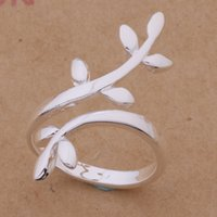 2 Styles New Arrival 925 Sterling Silver Leaves Open Rings A...