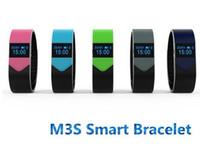 M3S Smart-Armband OLED Herzfrequenz Bluetooth Sync Anzeige Remote Camera Anti-verloren für iphone6 6s Plus-Smart-Armband