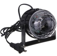 Voice Control RGB LED Stage Lamps Crystal Magic Ball Sound C...