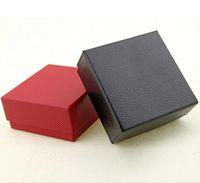 2017 Nouveau 10 pcs cadeau boîte 7.5x7.5x3.5 cm cadeau mode Kraft papier rouge / boîte noire Pour boucle d'oreille / bague / bracelet / necklac bijoux boîte-cadeau G1161