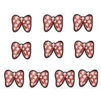 10pcs patch bowknot paillettes pour sacs à vêtements fer sur des correctifs de broderie pour jeans tissus bricolage pour patchwork coudre sur des paillettes