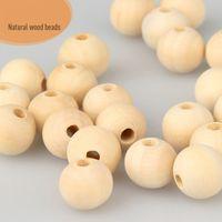 Branelli di legno rotondi di colore del legno naturale 20mm 15mm 12mm 10mm di alta qualità senza piombo perline di legno dei perline di legno degli accessori di gioielli dell'ingrosso