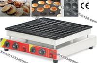 Spedizione gratuita 100 buche uso commerciale antiaderente Mini Pancake olandese Poffertjes Baker Maker Machine Grill Piastra di stampo in ferro