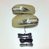 Светодиодные выделенные огни зеркала заднего вида + крышка, желтый сигнал поворота сигнала, DRL, наземная лампа для Infiniti EX35 / FX35 (S51), Nissan Murano (Z51)