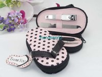 200PCS LOT+ Pink Polka Flip Flop Pedicure Set with Matching T...