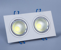 10W Double LED COB Ceiling downlight Recessed Cabinet Lamp A...